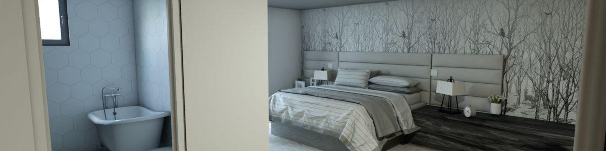 5dormitorio con baño en suit